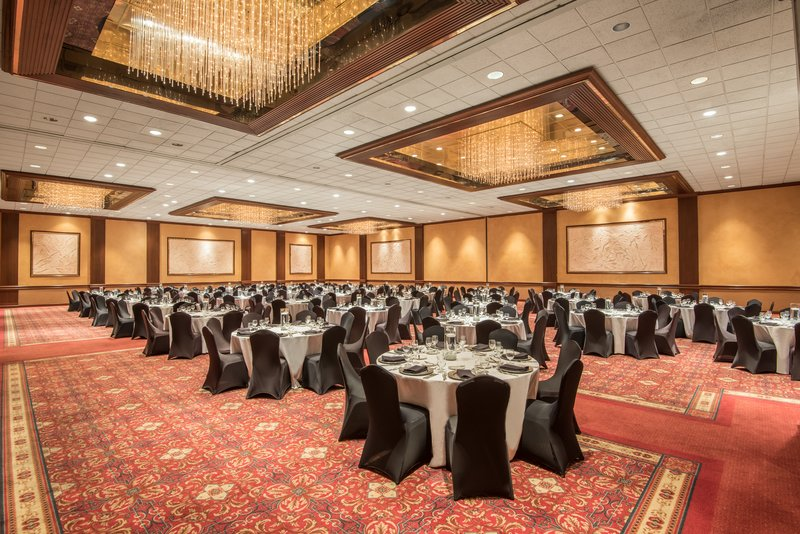 Crowne Plaza Knoxville Downtown University-Summit Grand Ballroom can be divided into 2 separate spaces.<br/>Image from Leonardo