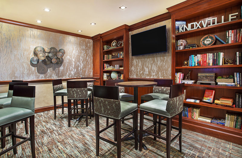 Crowne Plaza Knoxville Downtown University-Enjoy a drink at our Library Lounge.<br/>Image from Leonardo