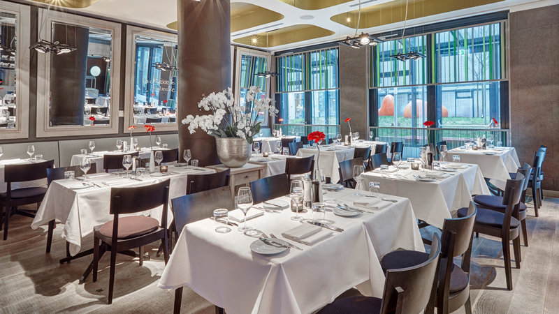 Hotel Indigo Berlin Centre Alexanderplatz-La Maison de L'Entrecote Restaurant. Enjoy great food and wine.<br/>Image from Leonardo