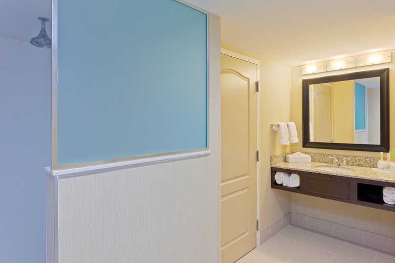 Holiday Inn Express Neptune-King Suite Guest Bathroom<br/>Image from Leonardo