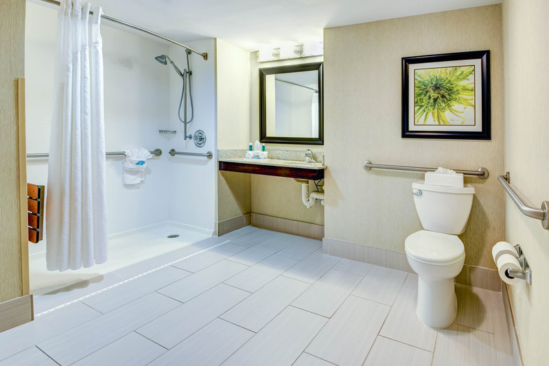 Holiday Inn Express Neptune-Accessible King Bed Suite Bathroom<br/>Image from Leonardo