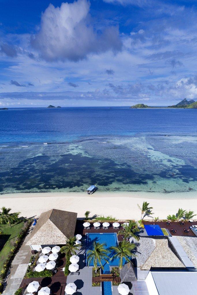 Musket Cove Island Resort-Resort Aerial Vertical<br/>Image from Leonardo