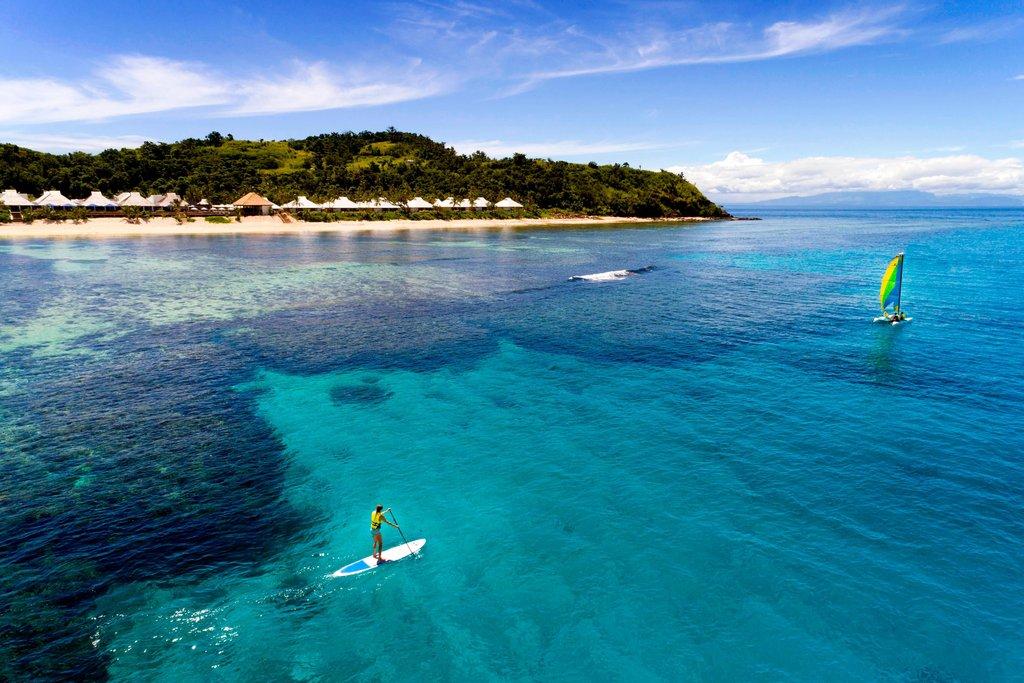 Musket Cove Island Resort-Paddle Boarding Hobbie Cat<br/>Image from Leonardo