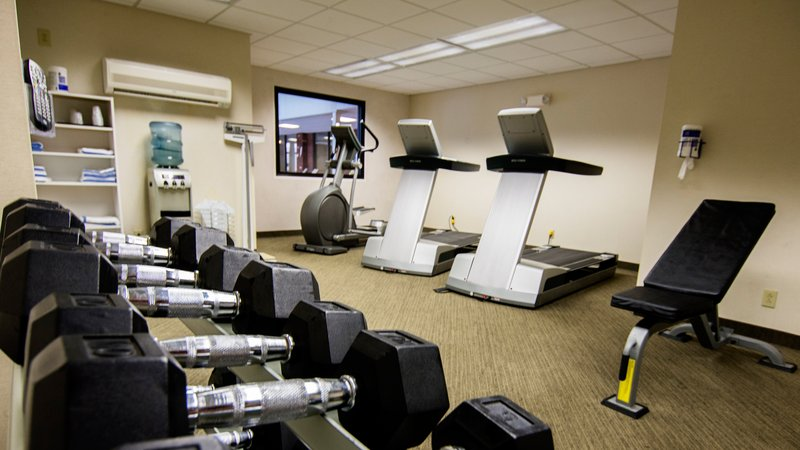 Holiday Inn Elmira - Riverview-Providing equipment to stay on track in our Fitness Center<br/>Image from Leonardo