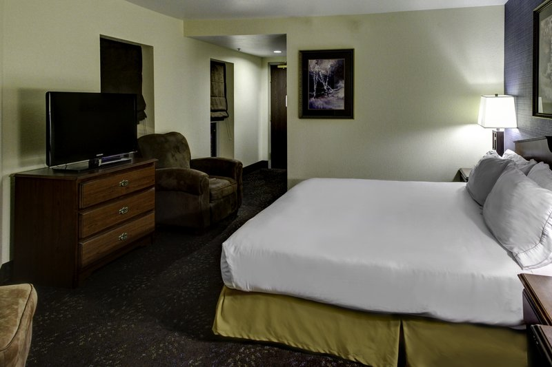 Holiday Inn Express & Suites Deadwood - Gold Dust Casino-King Size Bed Guest Room at Deadwood Holiday Inn Express<br/>Image from Leonardo