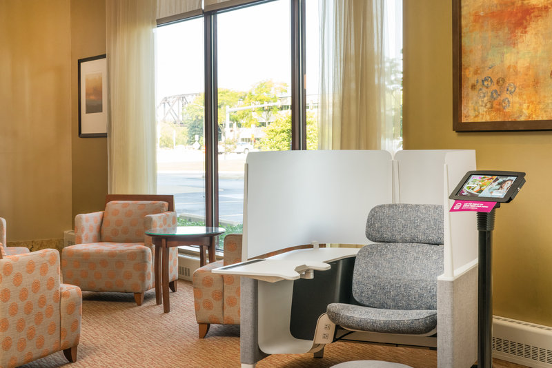 Crowne Plaza Milwaukee West-Individual Pod with Floorstand Tablet <br/>Image from Leonardo