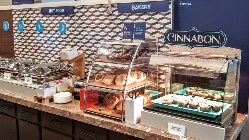Holiday Inn Express & Suites Carlsbad Beach 4.4/5 | 506 Revi-Daily Complimentary Hot Breakfast buffet including Cinnabon.<br/>Image from Leonardo