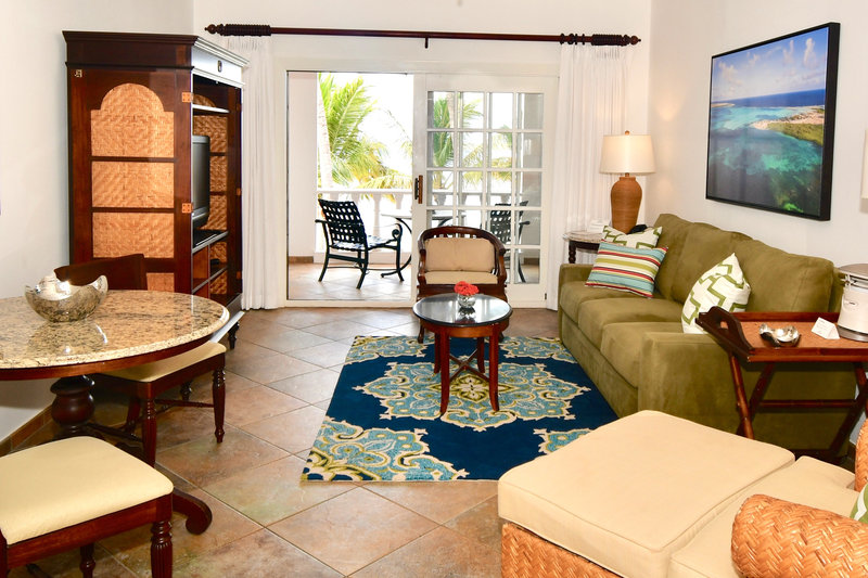 Harbour Village Beach Club-Beachfront Suite living area<br/>Image from Leonardo