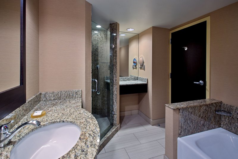 Crowne Plaza Lombard Downers Grove-King Executive Parlor Suite Spa-inspired Bath<br/>Image from Leonardo