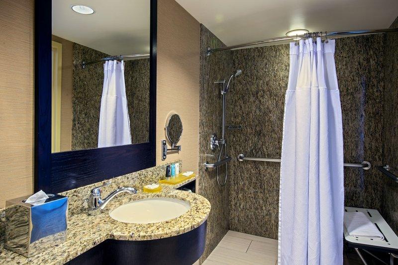 Crowne Plaza Lombard Downers Grove-King Superior Room ADA Bathroom<br/>Image from Leonardo