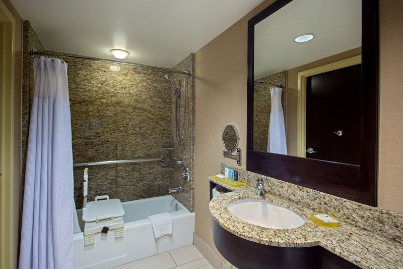 Crowne Plaza Lombard Downers Grove-Wheelchair Accessible Bath<br/>Image from Leonardo