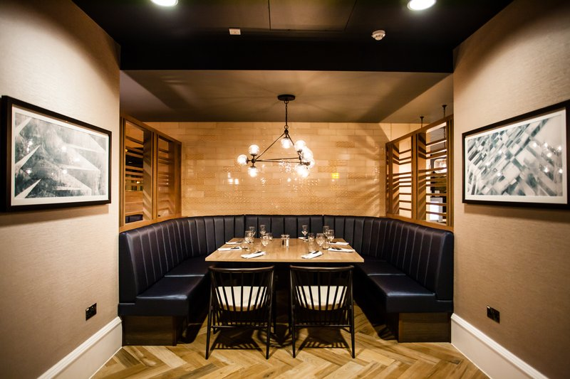 Crowne Plaza Leeds-Private Dining Booth<br/>Image from Leonardo