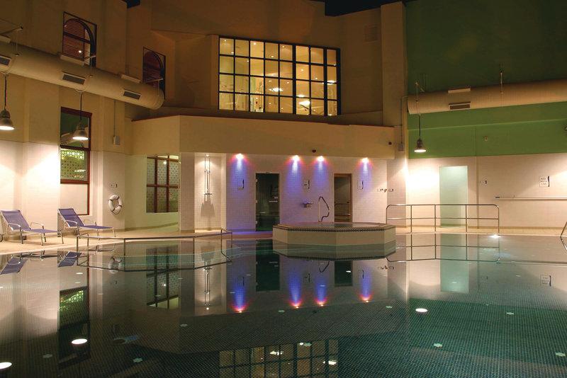 Crowne Plaza Leeds-Swimming Pool at Night<br/>Image from Leonardo