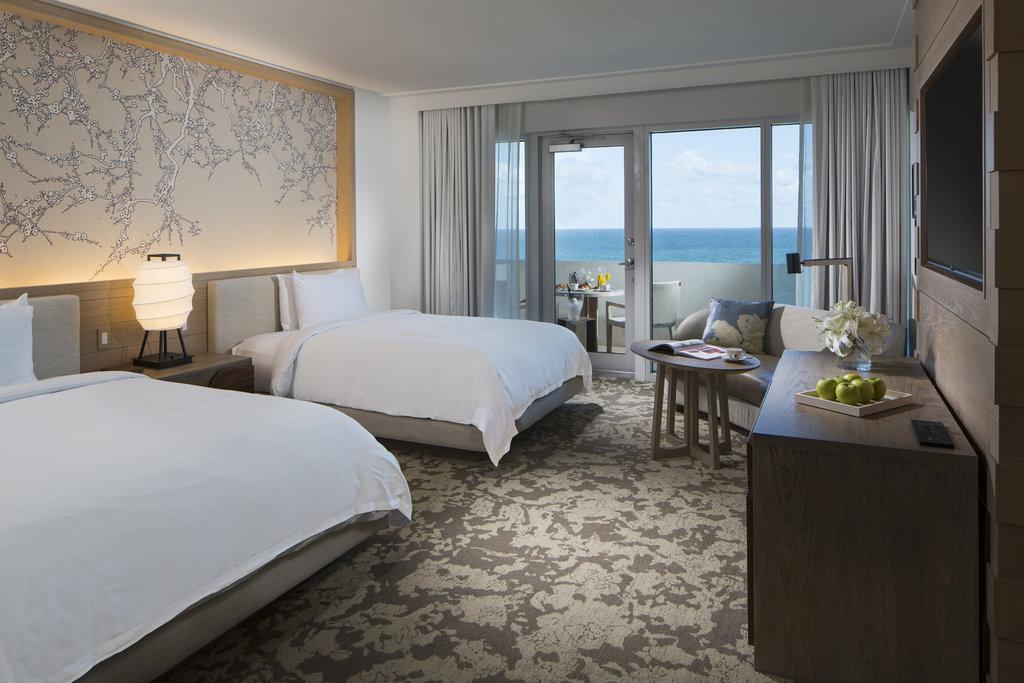 Nobu Hotel Miami Beach - Deluxe Ocean View With Balcony Queen Beds <br/>Image from Leonardo