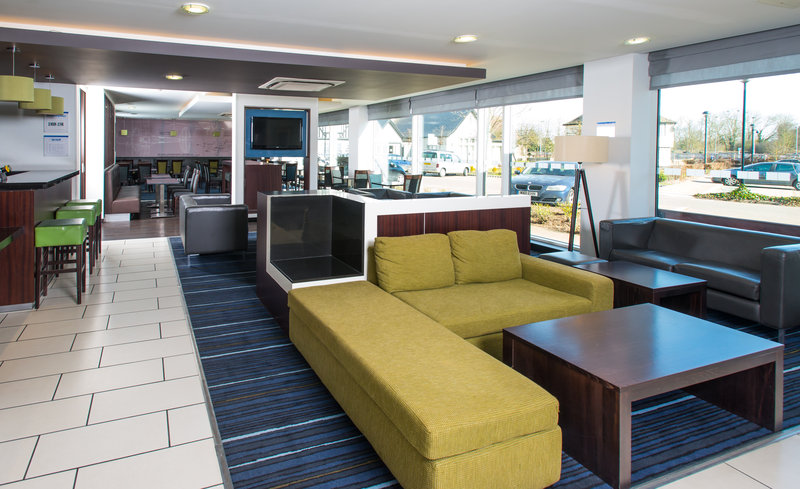 Holiday Inn Express Cambridge - Duxford M11, Jct.10-Lobby Lounge<br/>Image from Leonardo