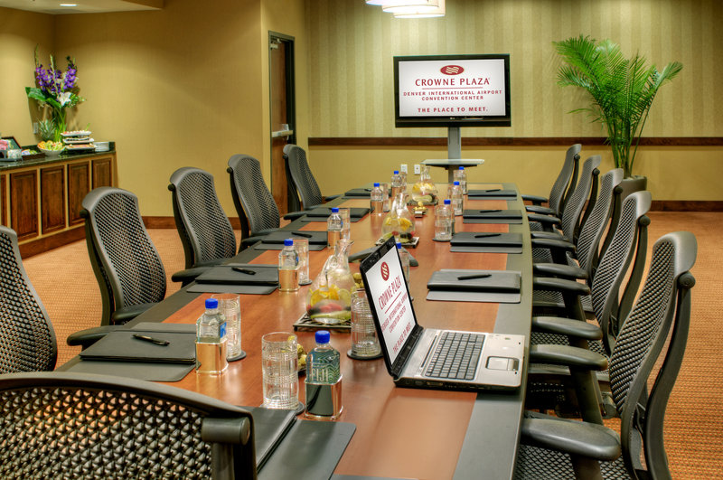 Crowne Plaza Denver Airport Convention Center-Host your next business meeting at our Executive Boardroom.<br/>Image from Leonardo