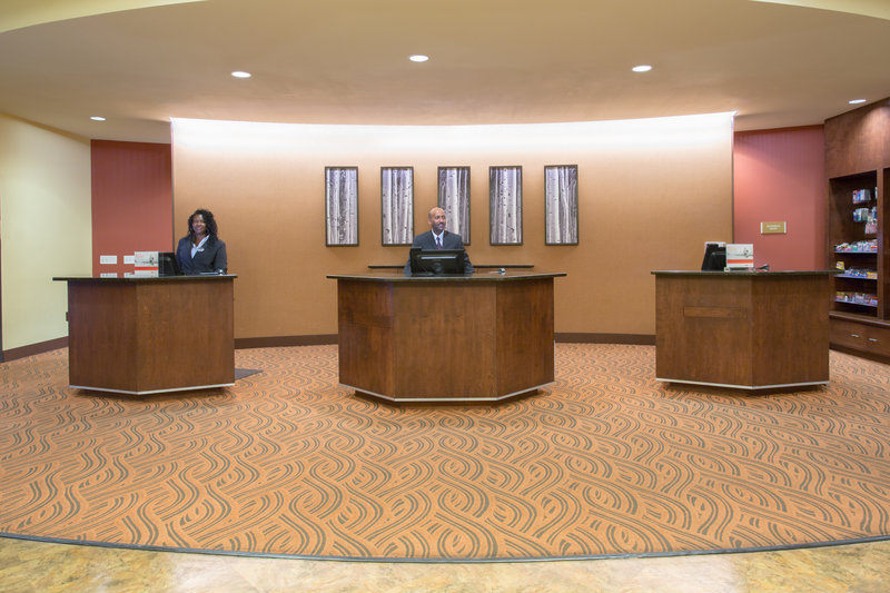 Crowne Plaza Denver Airport Convention Center-The Front Desk where expert and friendly staff are ready to help.<br/>Image from Leonardo