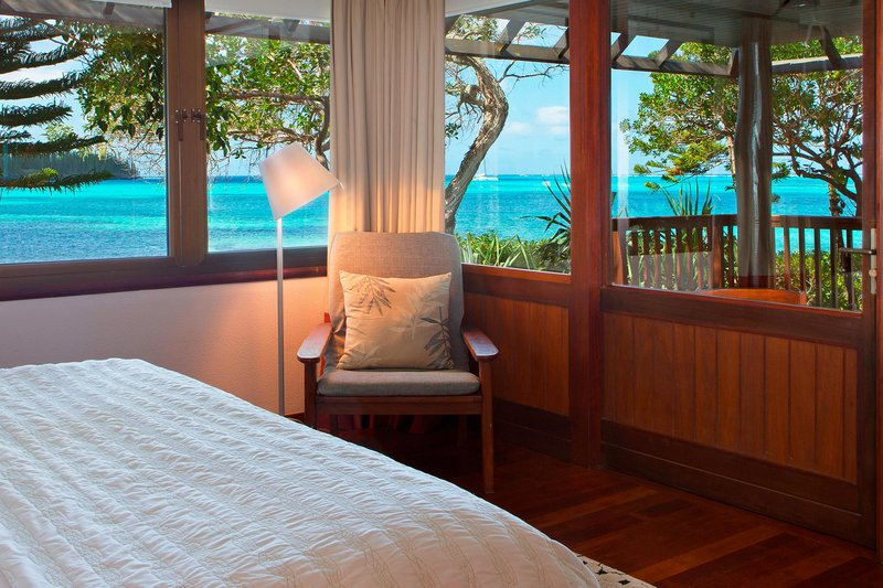 Le Meridien Ile Des Pins-Panoramic Bungalow Bedroom and View<br/>Image from Leonardo