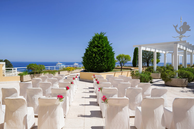 Le Meridien Beach Plaza-Sea Club Terrace Wedding Reception<br/>Image from Leonardo