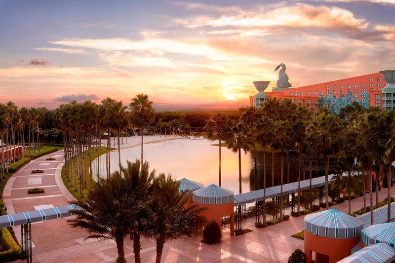 Walt Disney World Swan - Resort View Crescent Lake <br/>Image from Leonardo