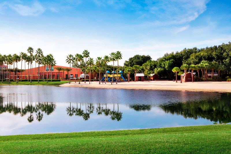 Walt Disney World Swan - White Sand Beach <br/>Image from Leonardo