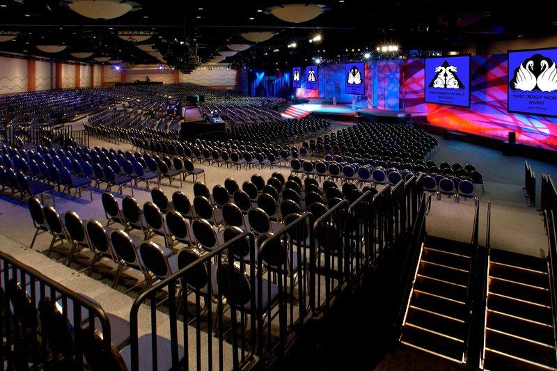 Walt Disney World Swan - Pacific Hall - stadium set-up <br/>Image from Leonardo