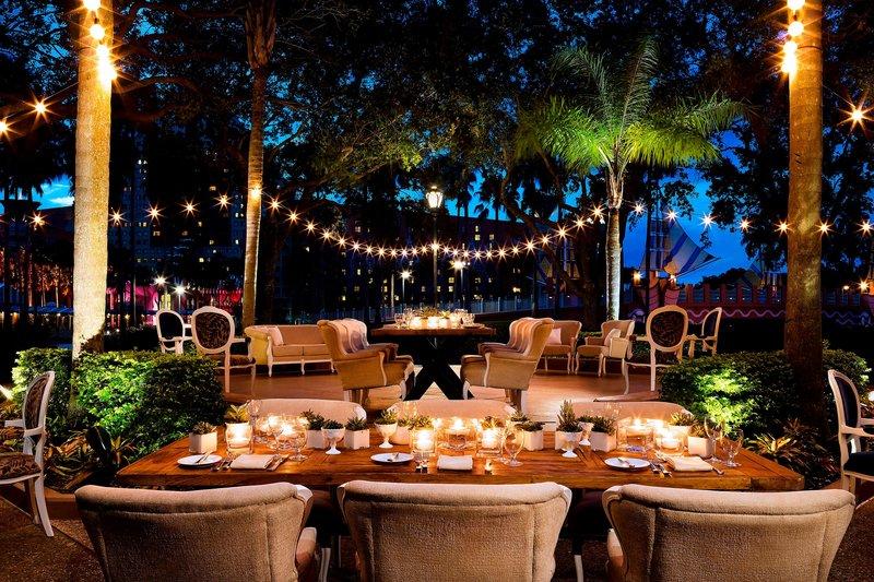 Walt Disney World Swan - Crescent Terrace - Event Setup <br/>Image from Leonardo