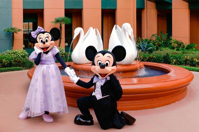 Walt Disney World Swan - Mickey and Minnie Wedding - Courtyard <br/>Image from Leonardo