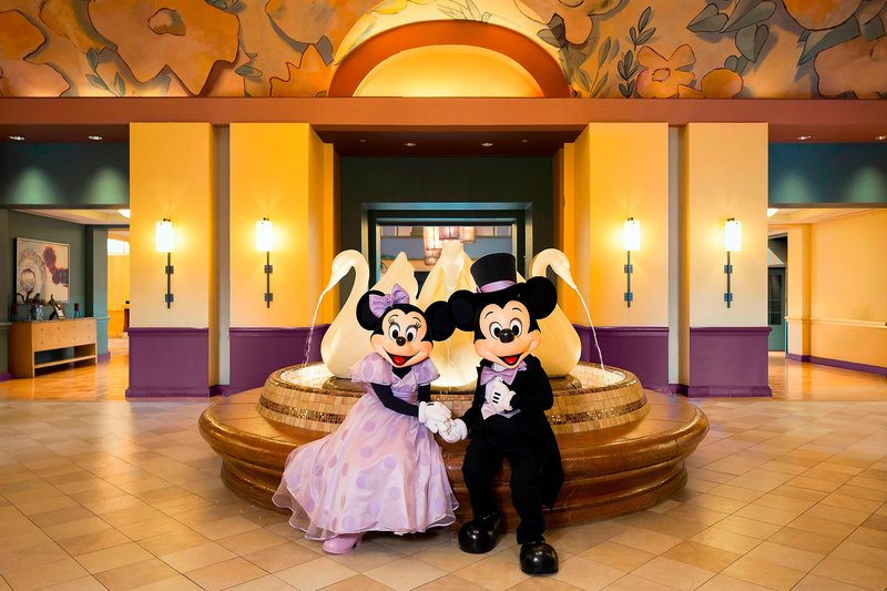 Walt Disney World Swan - Mickey and Minnie Wedding - Swan Lobby <br/>Image from Leonardo