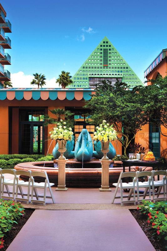 Walt Disney World Swan - West Courtyard - Intimate Wedding <br/>Image from Leonardo