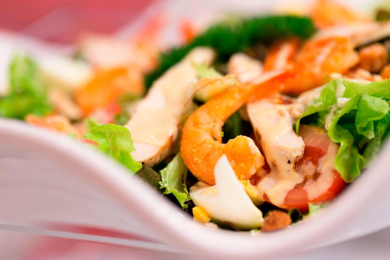 Le Meridien Noumea Resort & Spa-Le Sextant Restaurant - Prawn Salad<br/>Image from Leonardo