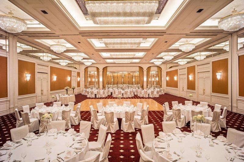 Le Meridien Stuttgart-Ballroom Elysee Wedding Setup<br/>Image from Leonardo