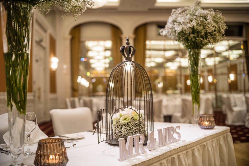 Le Meridien Stuttgart-Ballroom Elysee Wedding Setup Impression<br/>Image from Leonardo