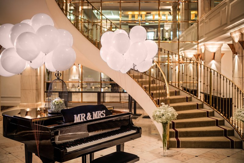 Le Meridien Stuttgart-Foyer Wedding Setup Impression<br/>Image from Leonardo