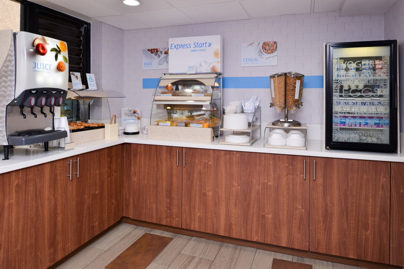 Holiday Inn Express Palm Desert-Our Breakfast Includes Cinnamon Rolls, Pancakes, Fruits and More<br/>Image from Leonardo