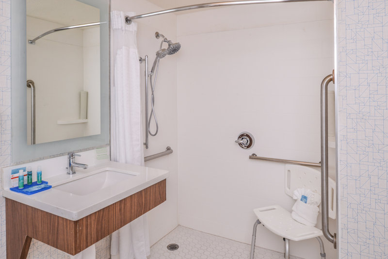 Holiday Inn Express Palm Desert-King Accessible Roll in Shower Bathroom Overview<br/>Image from Leonardo