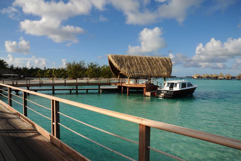 Le Meridien Bora Bora - Arrival Pontoon <br/>Image from Leonardo