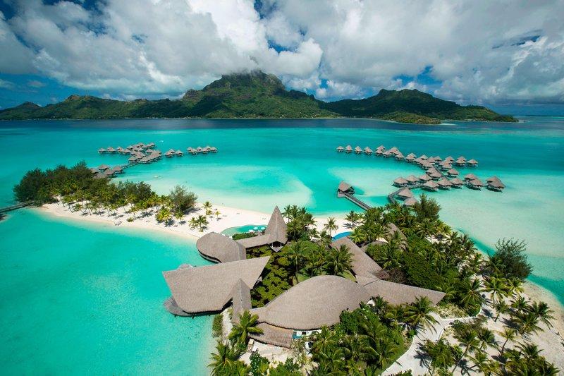 Le Meridien Bora Bora - Aerial View <br/>Image from Leonardo
