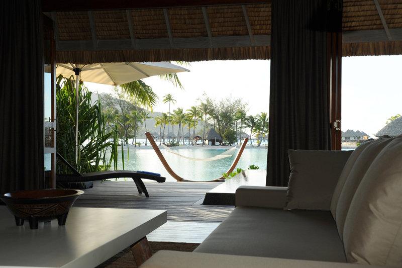 Le Meridien Bora Bora - Suite and Villa - Living Area Private View <br/>Image from Leonardo