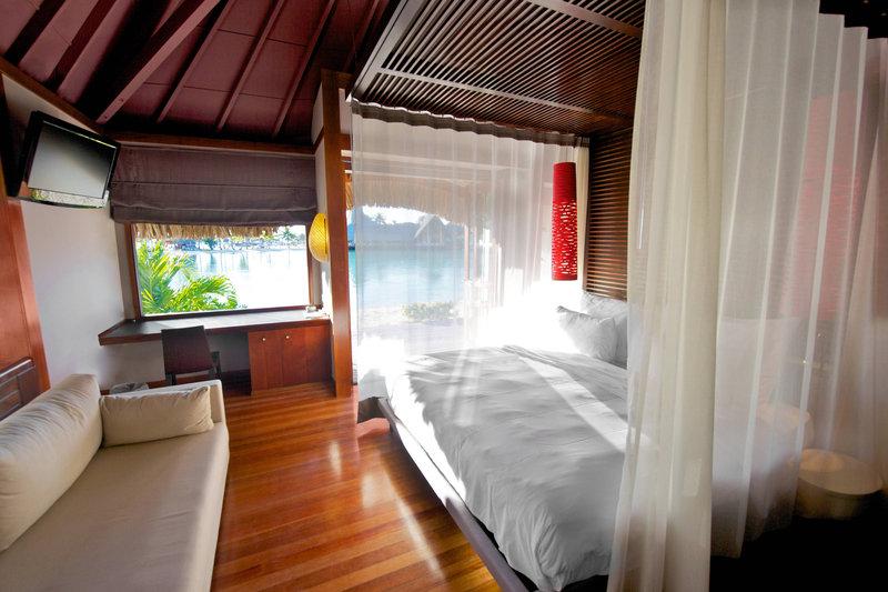 Le Meridien Bora Bora - Villa Guest Bedroom <br/>Image from Leonardo