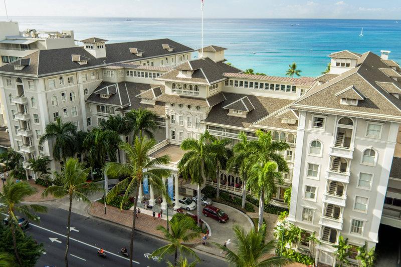 Moana Surfrider, A Westin Resort & Spa, Waikiki Beach - Aerial <br/>Image from Leonardo