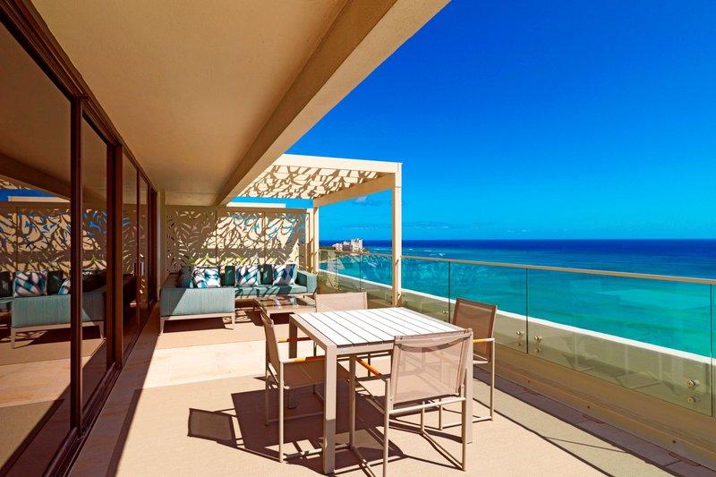 Moana Surfrider, A Westin Resort & Spa, Waikiki Beach - Penthouse Suite109 - Ewa facing Lanai <br/>Image from Leonardo