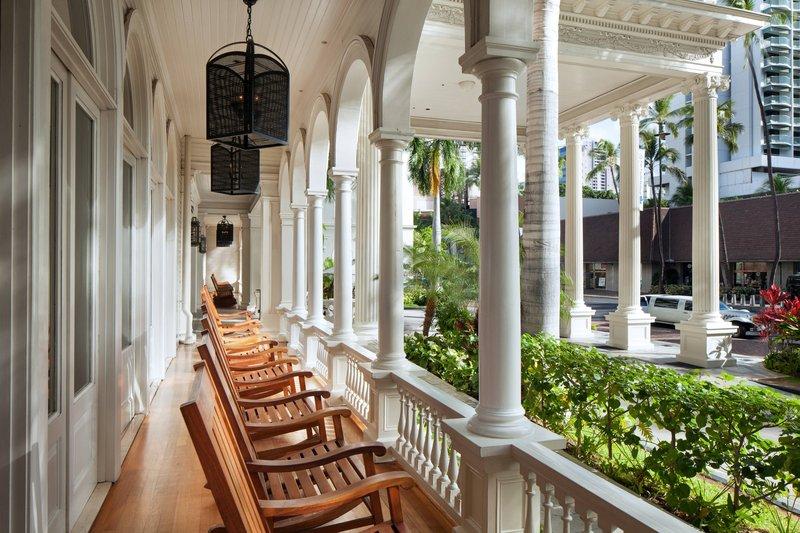 Moana Surfrider, A Westin Resort & Spa, Waikiki Beach - RocKing Chairs <br/>Image from Leonardo