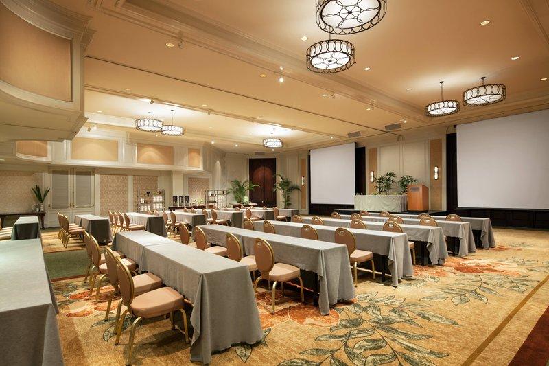 Moana Surfrider, A Westin Resort & Spa, Waikiki Beach - Ballroom - Classroom Set-up <br/>Image from Leonardo