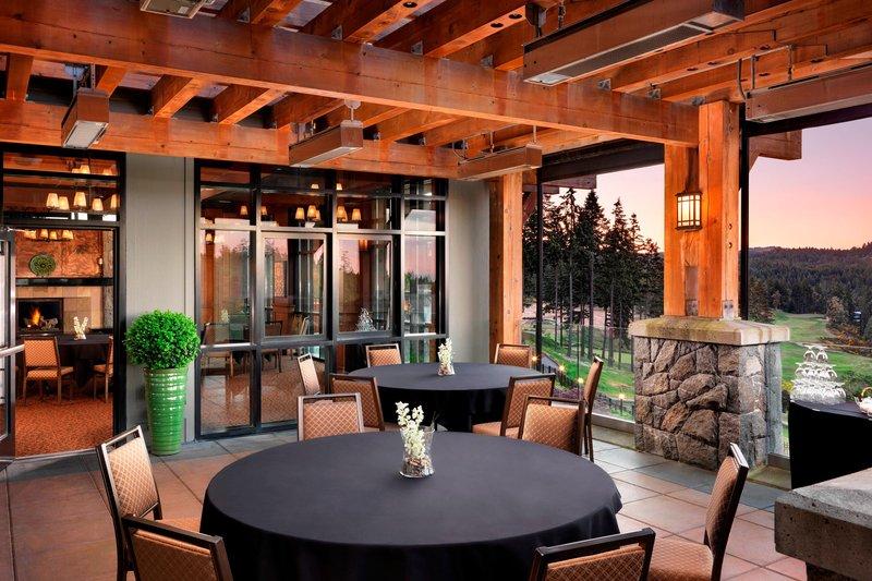 The Westin Bear Mountain Victoria Golf Resort & Spa-Mt. Baker Patio<br/>Image from Leonardo