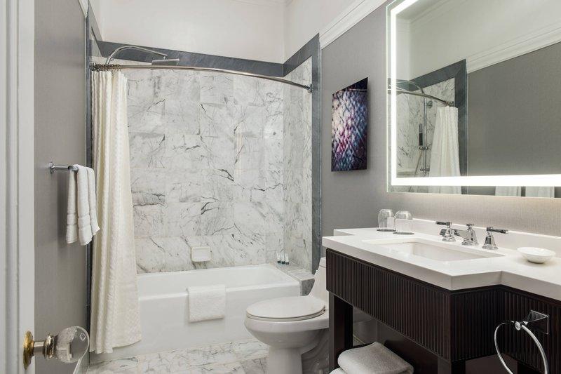 The Westin St. Francis - Landmark Building Guest Bathroom <br/>Image from Leonardo