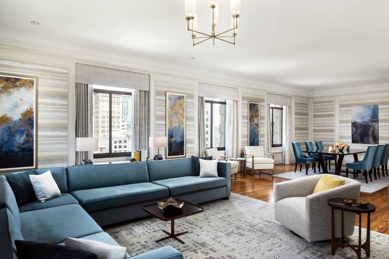 The Westin St. Francis - One-Bedroom State Suite - Living Room <br/>Image from Leonardo