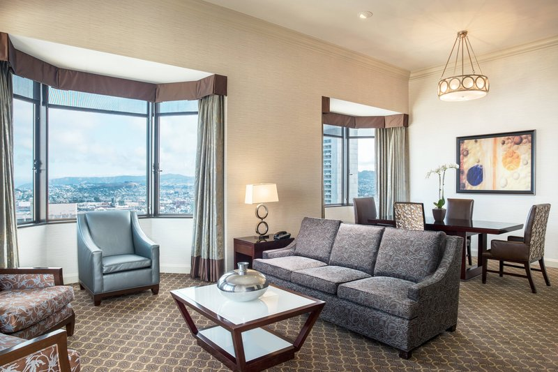 The Westin St. Francis - One-Bedroom Bayview Suite - Living Area <br/>Image from Leonardo