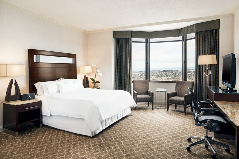 The Westin St. Francis - One-Bedroom Bayview Suite - Bedroom <br/>Image from Leonardo