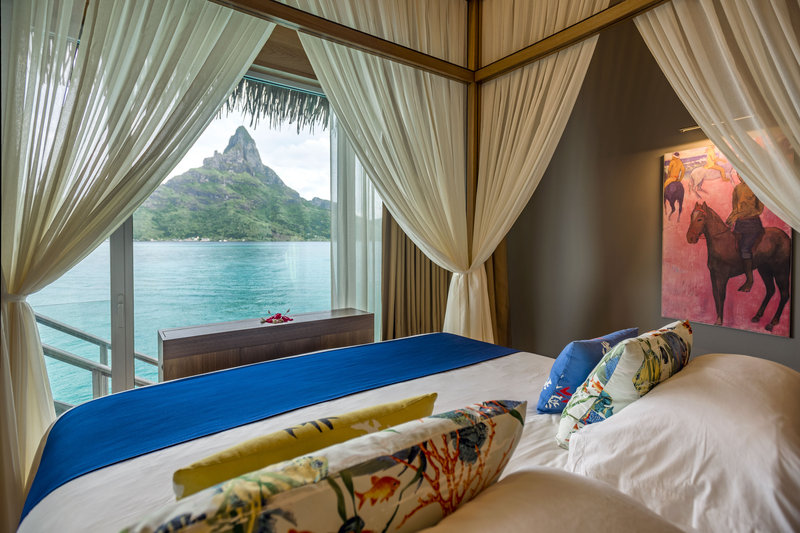 Intercontinental Bora Bora Resort-Wake up to a view of Mount Otemanu in our Villa Teremoana <br/>Image from Leonardo